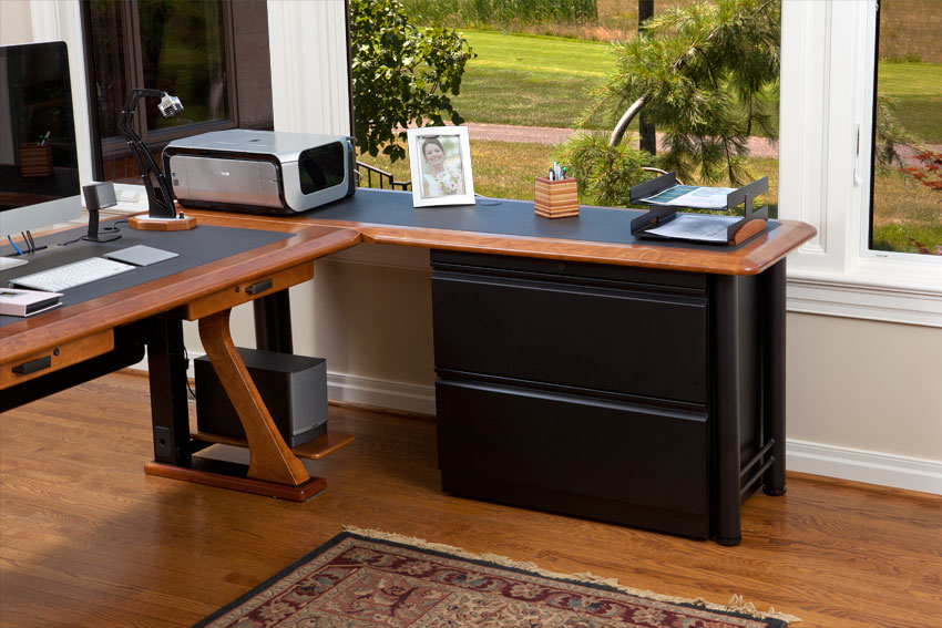 Impressive Computer Desk And File Cabinet Lateral File Cabinet For L Shaped Desks Caretta Workspace