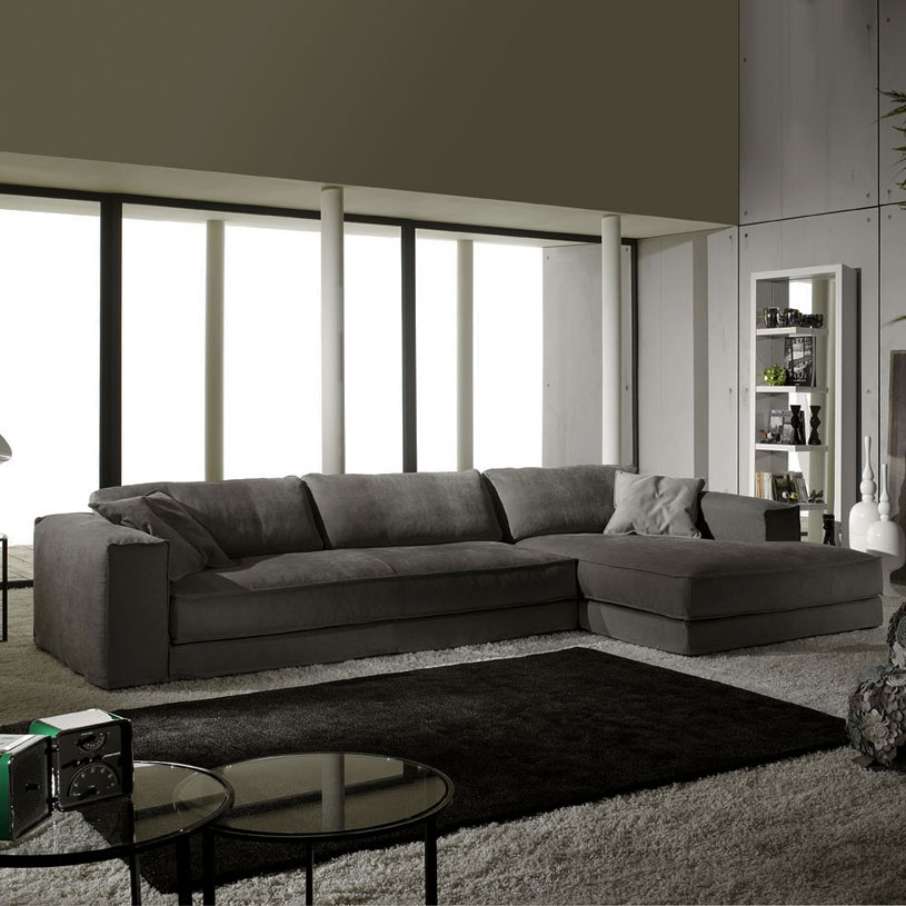 Impressive Corner Couch With Chaise Grey Fabric Corner Sofa Modern Italian