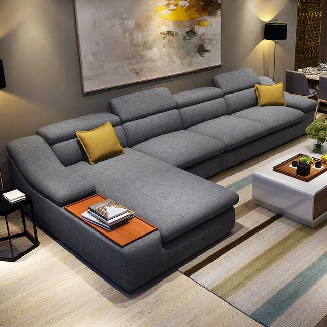 Impressive Corner Sectional With Chaise Aliexpress Buy Living Room Furniture Modern L Shaped Fabric