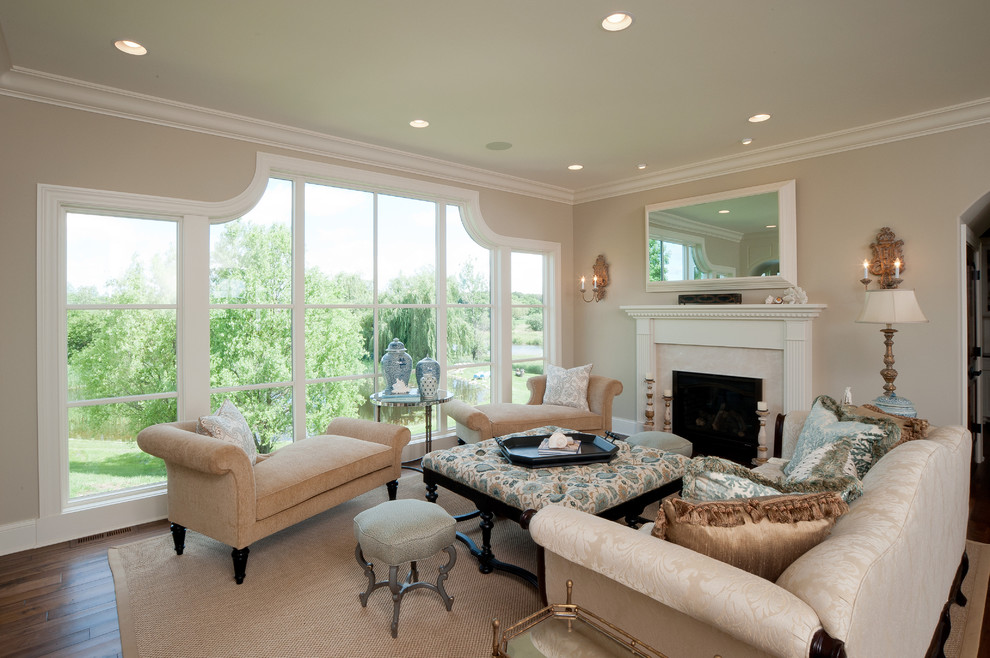 Impressive Cream Colored Chaise Lounge Living Room Outstanding Living Room Implemented With White
