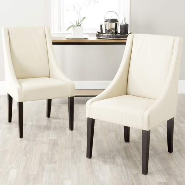 Impressive Cream Dining Chairs With Arms Safavieh En Vogue Dining Sloping Arm Chairs Cream Dining Chairs