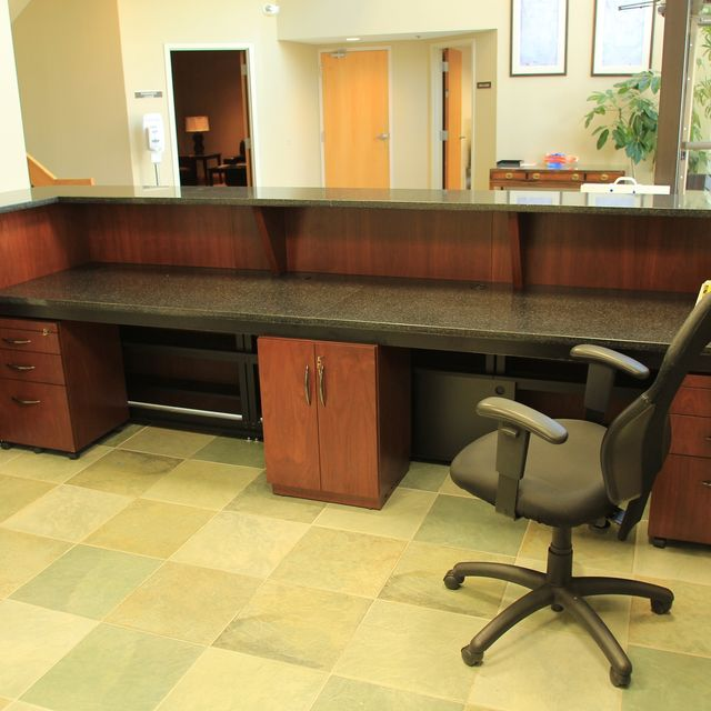 Impressive Custom Made Desks Handmade Custom Made Zodiac And Walnut Reception Desk R J Hoppe