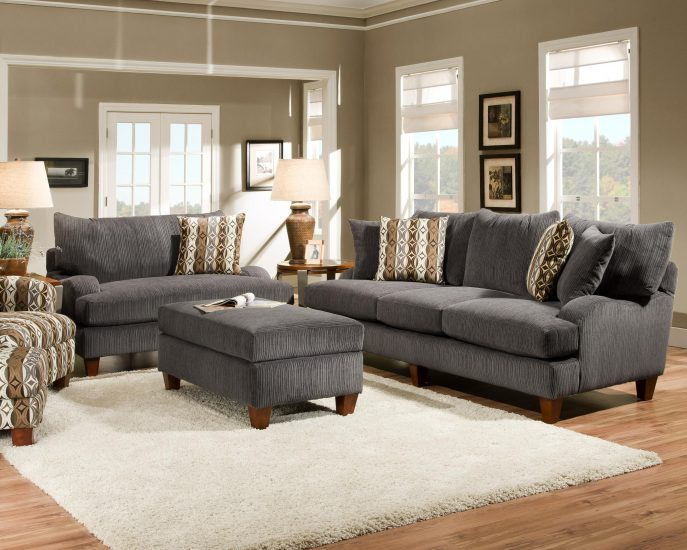 Impressive Dark Grey Sofa Set Sofas Fabulous Grey Suede Couch Dark Gray Sofa Black And Grey