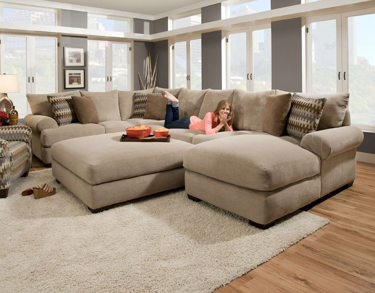 Impressive Deep Couches Living Room Deep Seated Sectional Couches Baccarat 3 Pc Sectional Product No