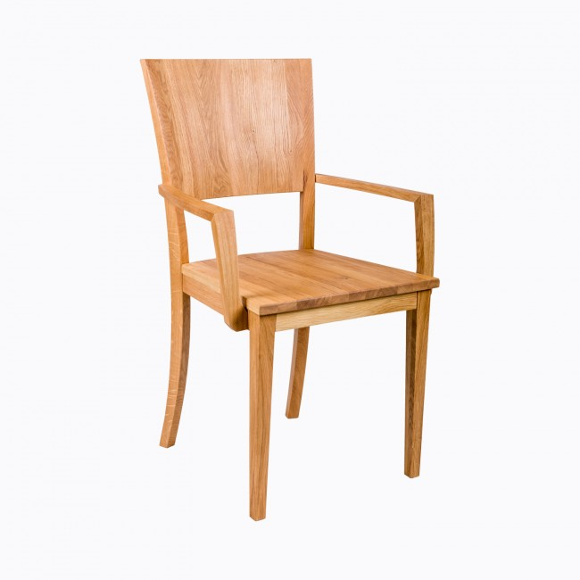 Impressive Dining Chair With Armrest Modern Solid Oak Dining Chair With Armrest Funiquecouk