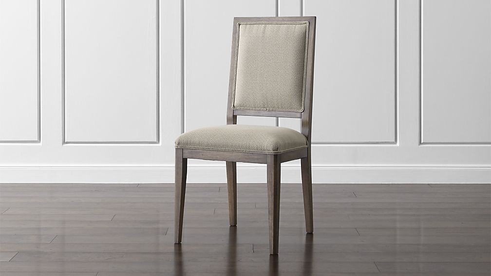 Impressive Dining Side Chairs Sonata Pinot Lancaster Grey Dining Side Chair Crate And Barrel