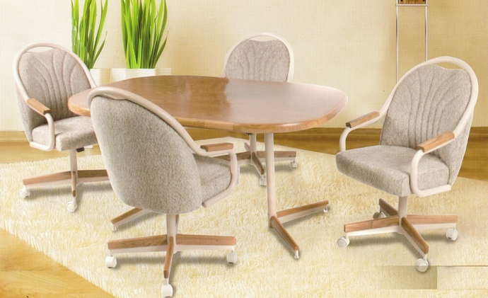 Impressive Dining Table Chairs With Armrests 5 Pc Douglas Casual Living