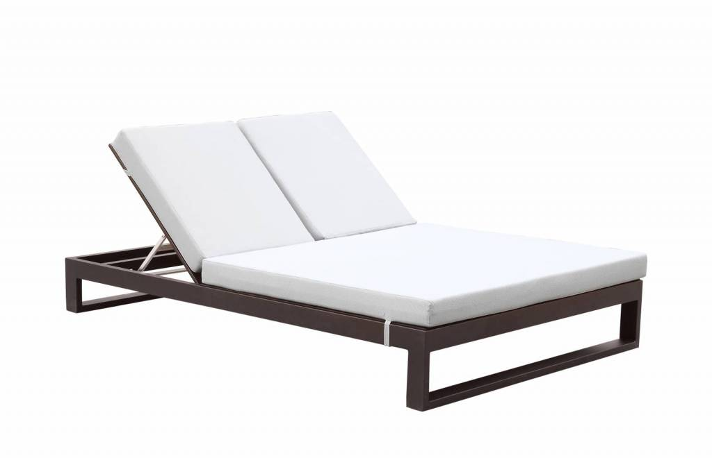 Impressive Double Chaise Lounge Outdoor Amber Modern Outdoor Double Chaise Lounge