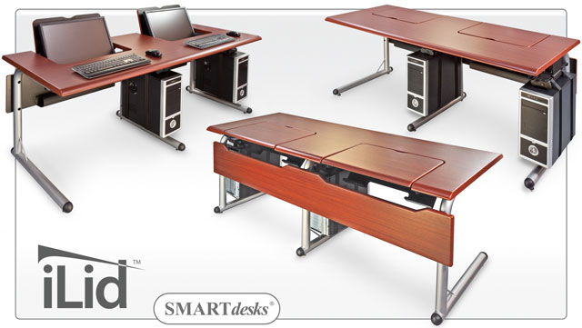 Impressive Double Computer Desk Workstation Smartdesks Computer Tables Ilid Computer Tables And Workstations