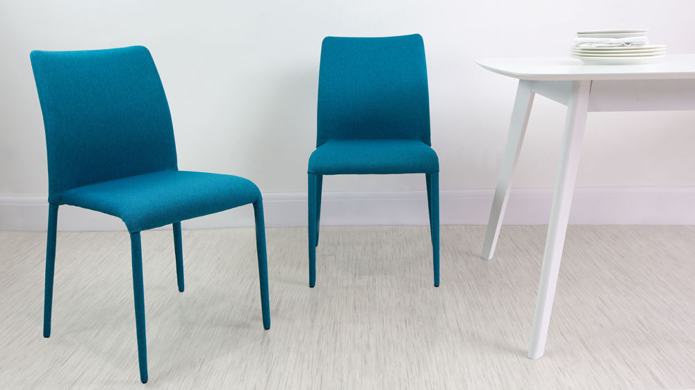 Impressive Fabric Dining Chairs Fully Upholstered Stackable Fabric Dining Chairs Uk
