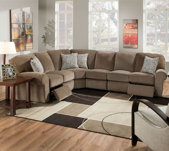 Impressive Fabric Sectional Sofa With Recliner Reclining Sectional Sofas Best Picture Sectional Sofa With