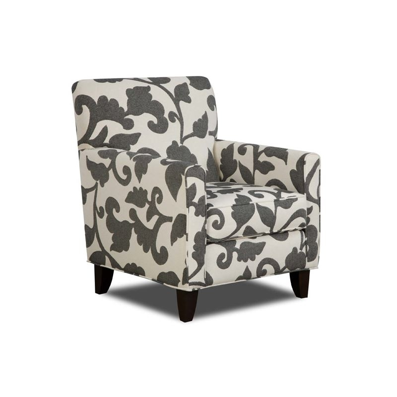 Impressive Grey And White Accent Chair Living Room Accent Seating Jacquard Patterned Chair Mediterranean