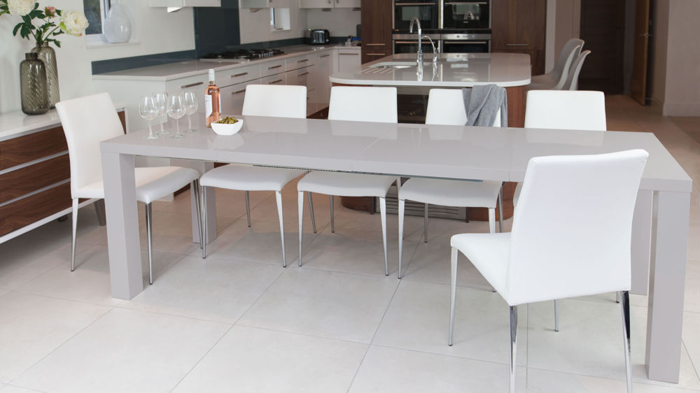 Impressive Grey And White Dining Chairs Modern Dining Chair Leather White And Grey Chrome Legs
