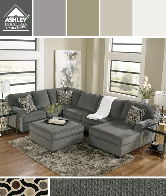 Impressive Grey Sectional Couch Ashley Furniture Gray Earth Tones Im Getting This For My Family Room Loric
