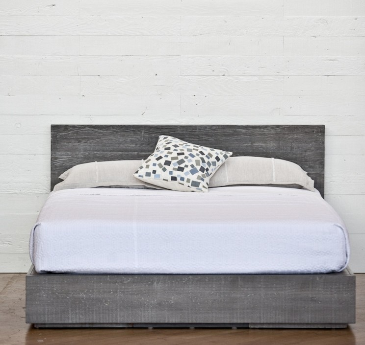 Impressive Grey Wooden Bed Frame Urban Woods Zuma Bed Frame Made From Reclaimed Wood