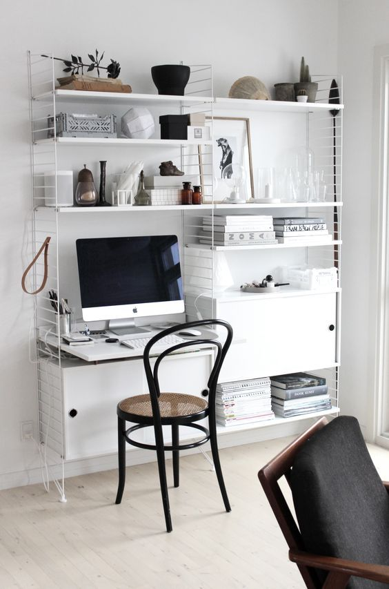 Impressive Home Office Desk With Shelves Best 25 Scandinavian Office Storage Ideas On Pinterest