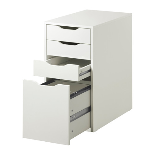 Impressive Ikea Office Drawers Alex Drawer Unit White Ikea