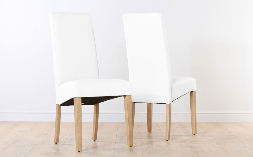 Impressive Ikea White Leather Dining Chair Wonderful White Leather Dining Chairs And Table 41 With Additional