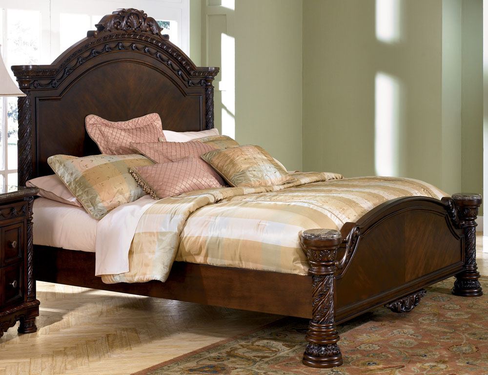 Impressive King Size Bed Furniture North Shore King Size Panel Bed From Millennium Ashley