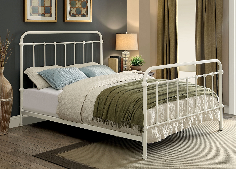 Impressive King Size Metal Bed Hampton Vintage White Cal King Size Metal Bed Frame