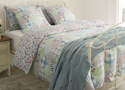 Impressive Laura Ashley Duvet Sets Country Patchwork Blue Cotton Duvet Cover Laura Ashley