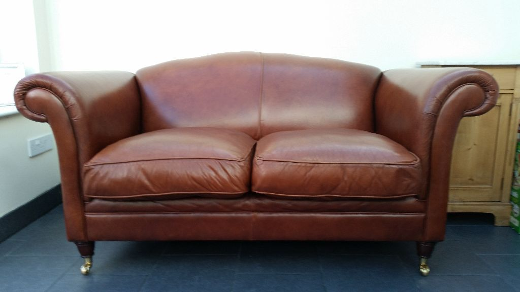 Impressive Laura Ashley Leather Sofa Laura Ashley Gloucester Sofa Settee In Heritage Brown Leather