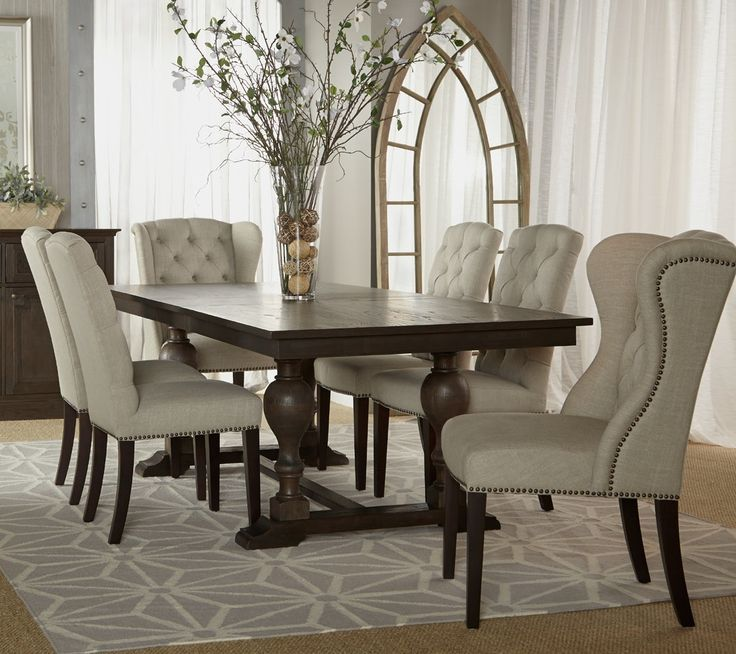 Impressive Leather And Fabric Dining Room Chairs 8 Best Dining Room Images On Pinterest Dining Rooms Dining
