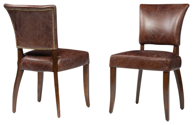 Impressive Leather Covered Dining Chairs Cowhide Bench Houzz