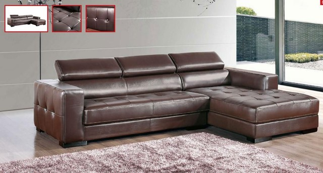 Impressive Leather Sectional Couch With Chaise Alluring Leather Sectional Sofa With Chaise Bazar De Coco