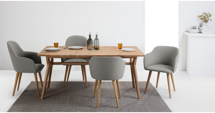 Impressive Low Back Dining Chairs 2 X Stig Low Back Dining Chairs Grey And Natural Made