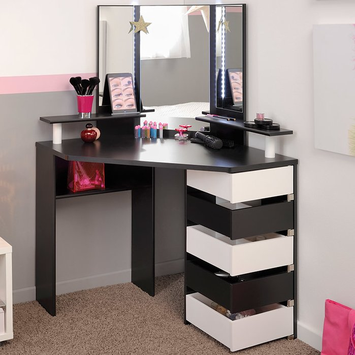 Impressive Makeup Table And Mirror Makeup Tables And Vanities Youll Love Wayfair