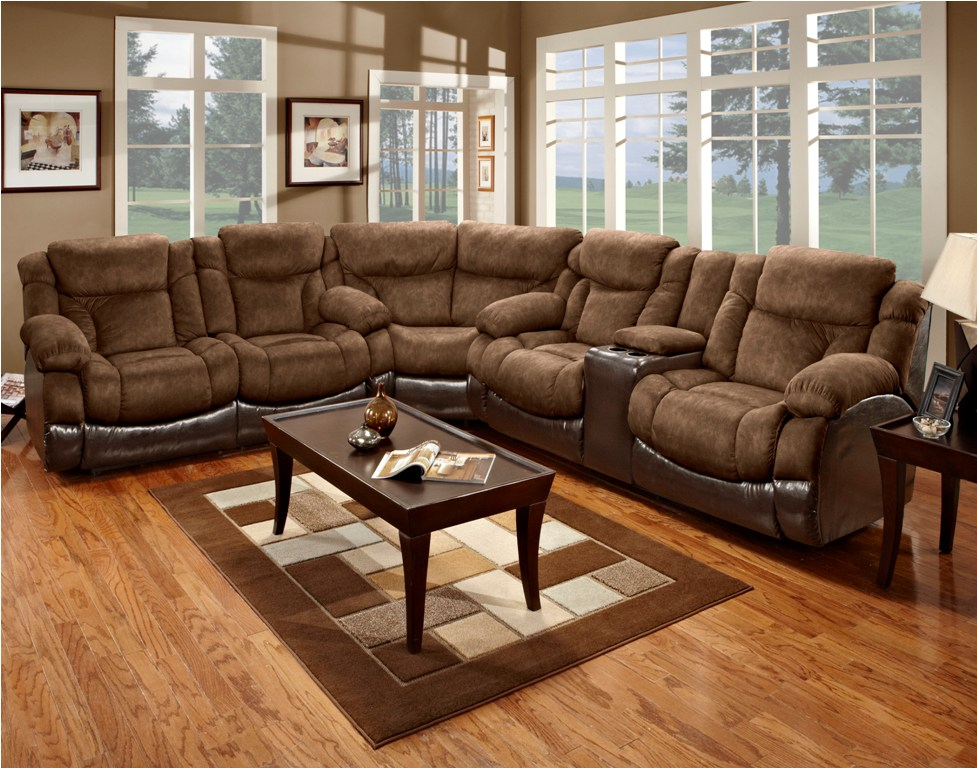 Impressive Microfiber Reclining Sectional With Chaise Sectional Reclining Sofa Roselawnlutheran