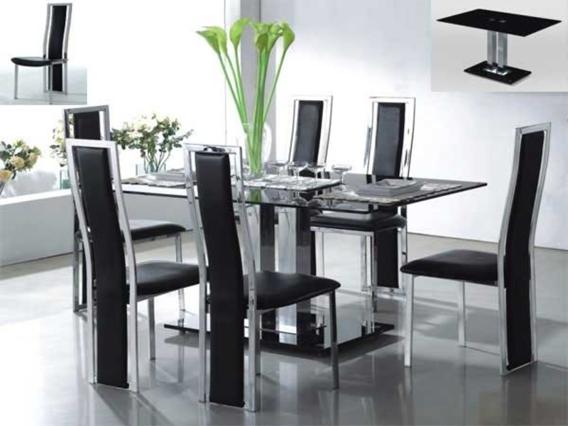 Impressive Modern Glass Dining Table Set Creative Kitchen Dining Table Sets With Dining Room Great Table