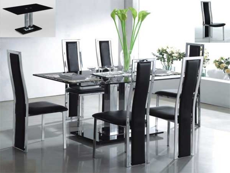 Impressive Modern Glass Dining Table Set Modern Glass Dining Room Tables Amusing Design Dining Room The