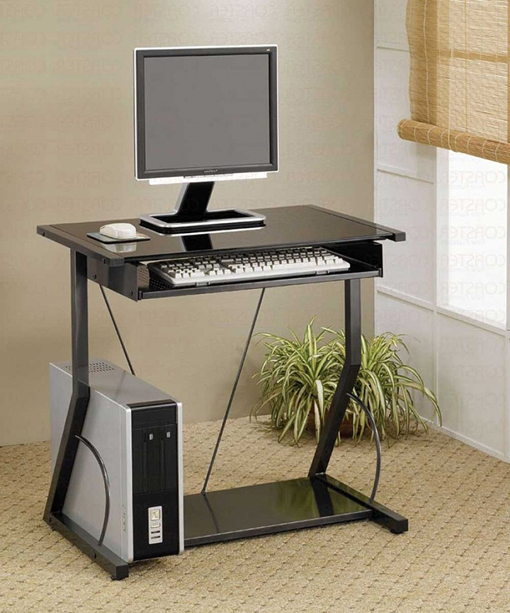 Impressive Narrow Computer Desk Why Should One Make A Computer Table Small Furniture Depot
