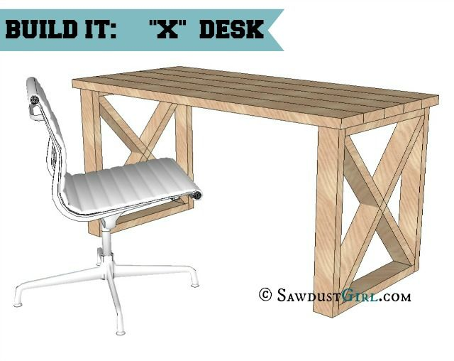 Impressive Office Desk Design Plans X Leg Office Desk Bench Designs Office Desks And Desk Plans