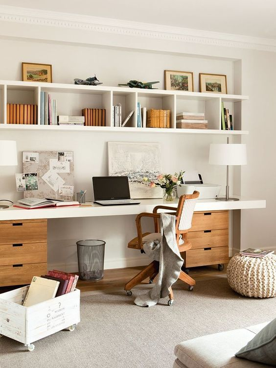 Impressive Office Desk With Shelves Best 25 Shelves Above Desk Ideas On Pinterest Desk Shelves