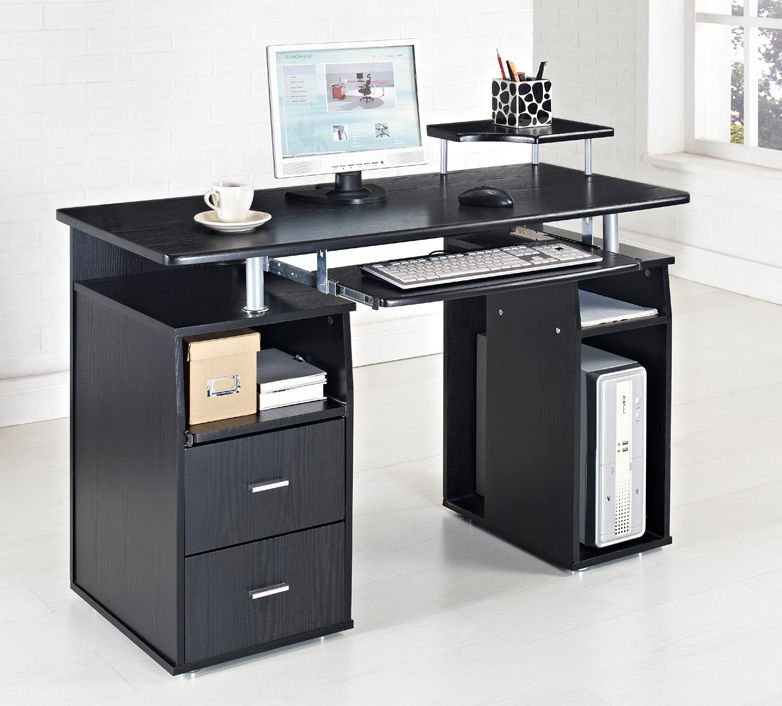 Impressive Office Furniture Work Table Black Puter Desk Table Furniture For Cool Black White Home Design