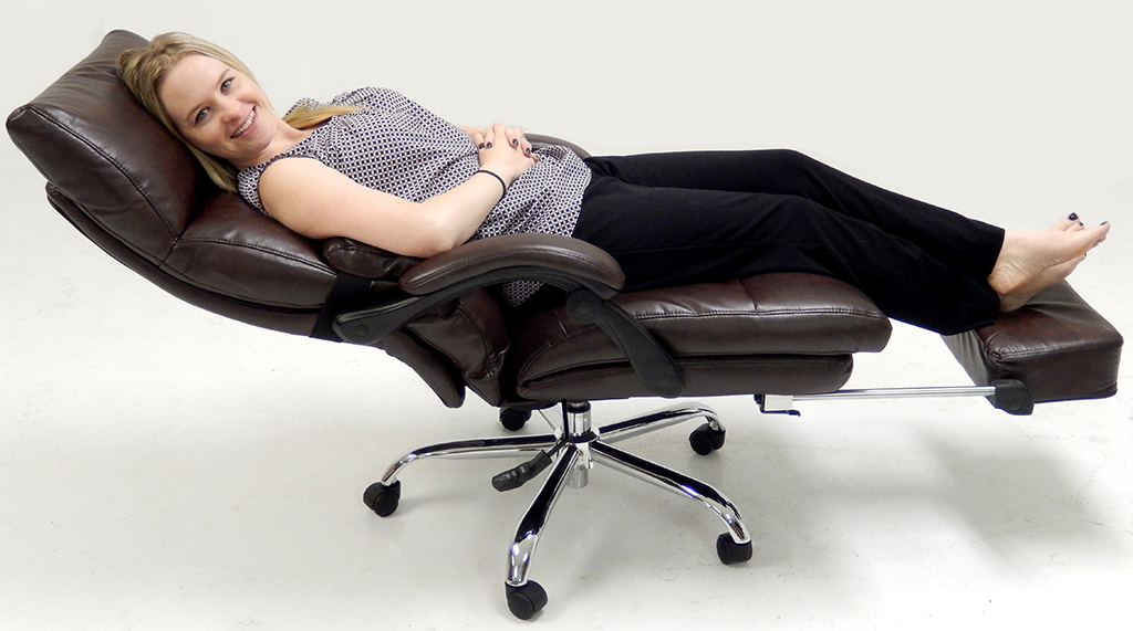 Impressive Reclining Office Chair Top Leather Office Recliner Wfootrest