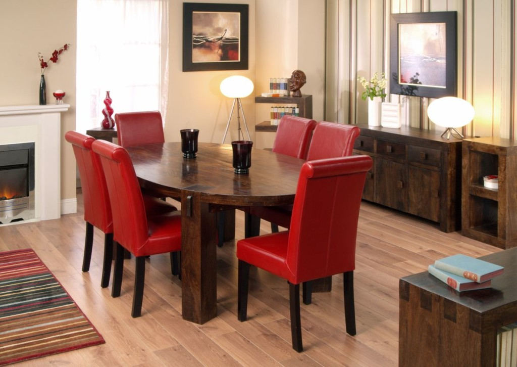 Impressive Red Dining Room Chairs Oak Dining Table And Red Leather Chairs Dining Chairs Design