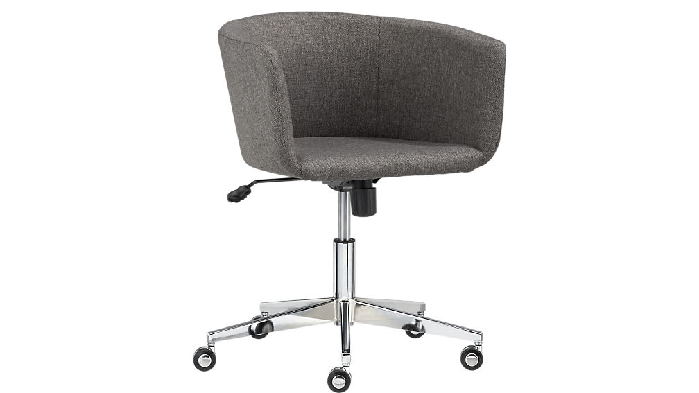 Impressive Rolling Desk Chair Coup Grey Office Chair Cb2