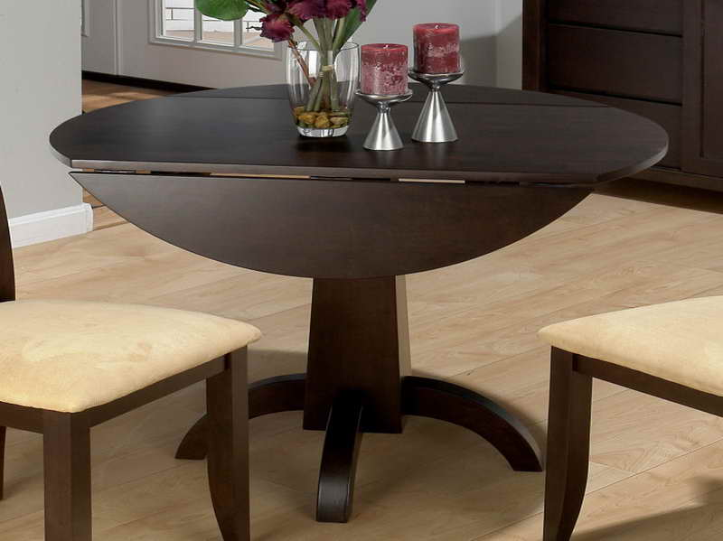 Impressive Round Dining Table For 6 With Leaf Kitchen Drop Leaf Round Kitchen Table On Kitchen Pertaining To 26