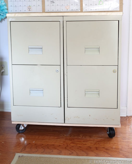 Impressive Shallow File Cabinet File Cabinet Makeover In My Own Style