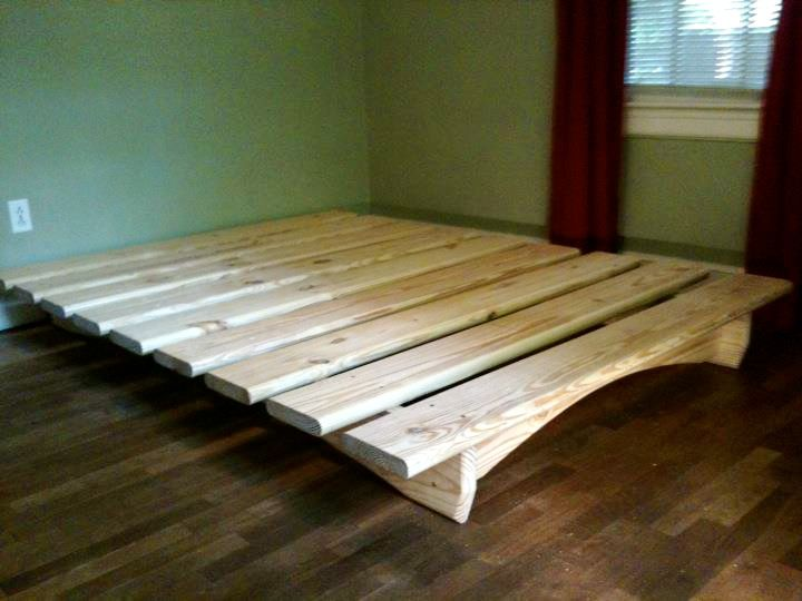 Impressive Simple Queen Size Bed Frame Cheap Easy Low Waste Platform Bed Plans Platform Beds 30th