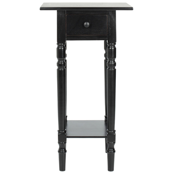 Impressive Small Black Night Table Black Klyazma