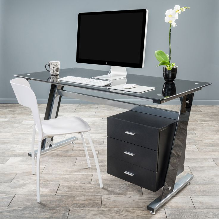 Impressive Small Black Office Desk Best 25 Black Glass Computer Desk Ideas On Pinterest Desk For