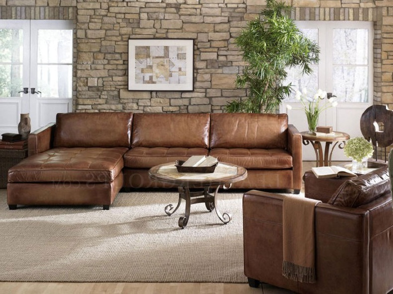 Impressive Small Leather Sectional Couch Small Leather Sofa With Chaise Facil Furniture