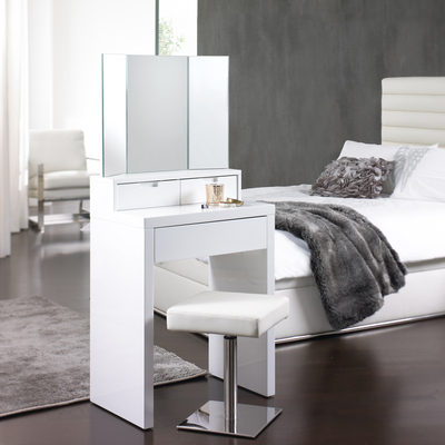 Impressive Small White Makeup Table Marilyn Dressing Table White Dwell