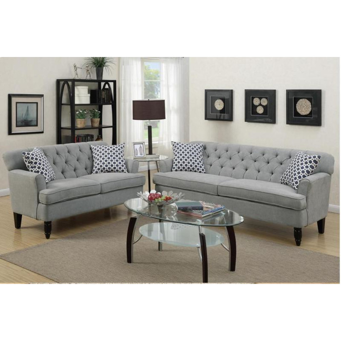 Impressive Sofa Loveseat And Ottoman Set Living Room Sets Youll Love Wayfair