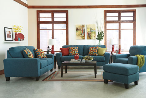 Impressive Sofa Loveseat And Ottoman Set Living Rooms At Mattress And Furniture Super Center